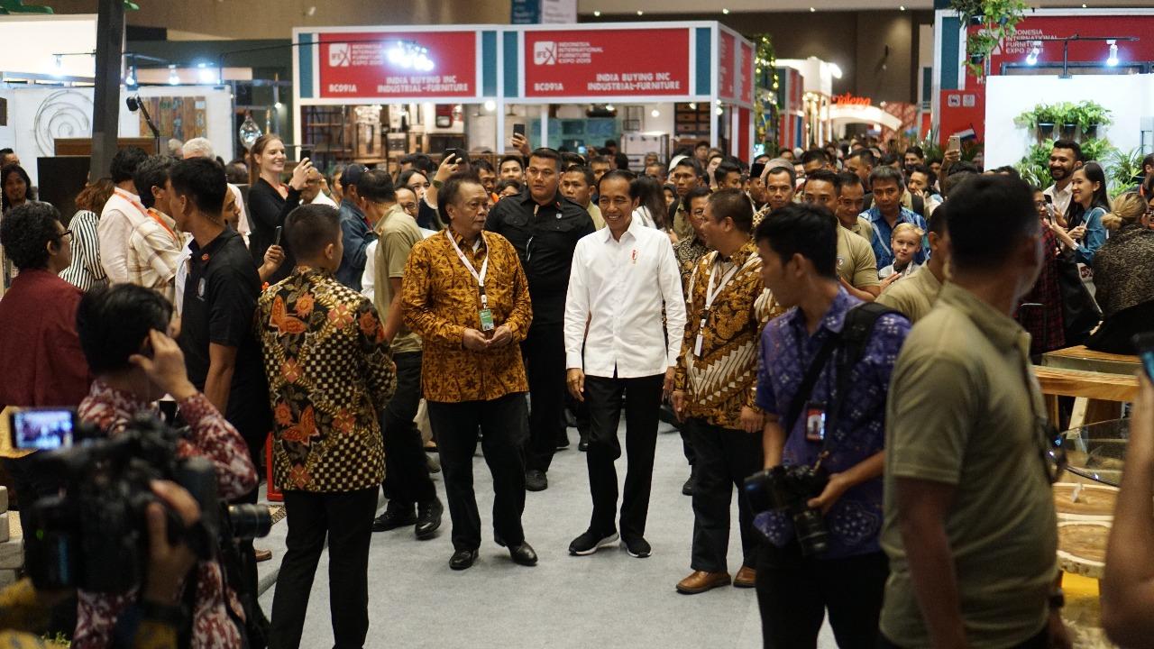 Indonesia International Furniture Expo (IFEX) 2019 Presiden Jokowi Kunjungi IFEX