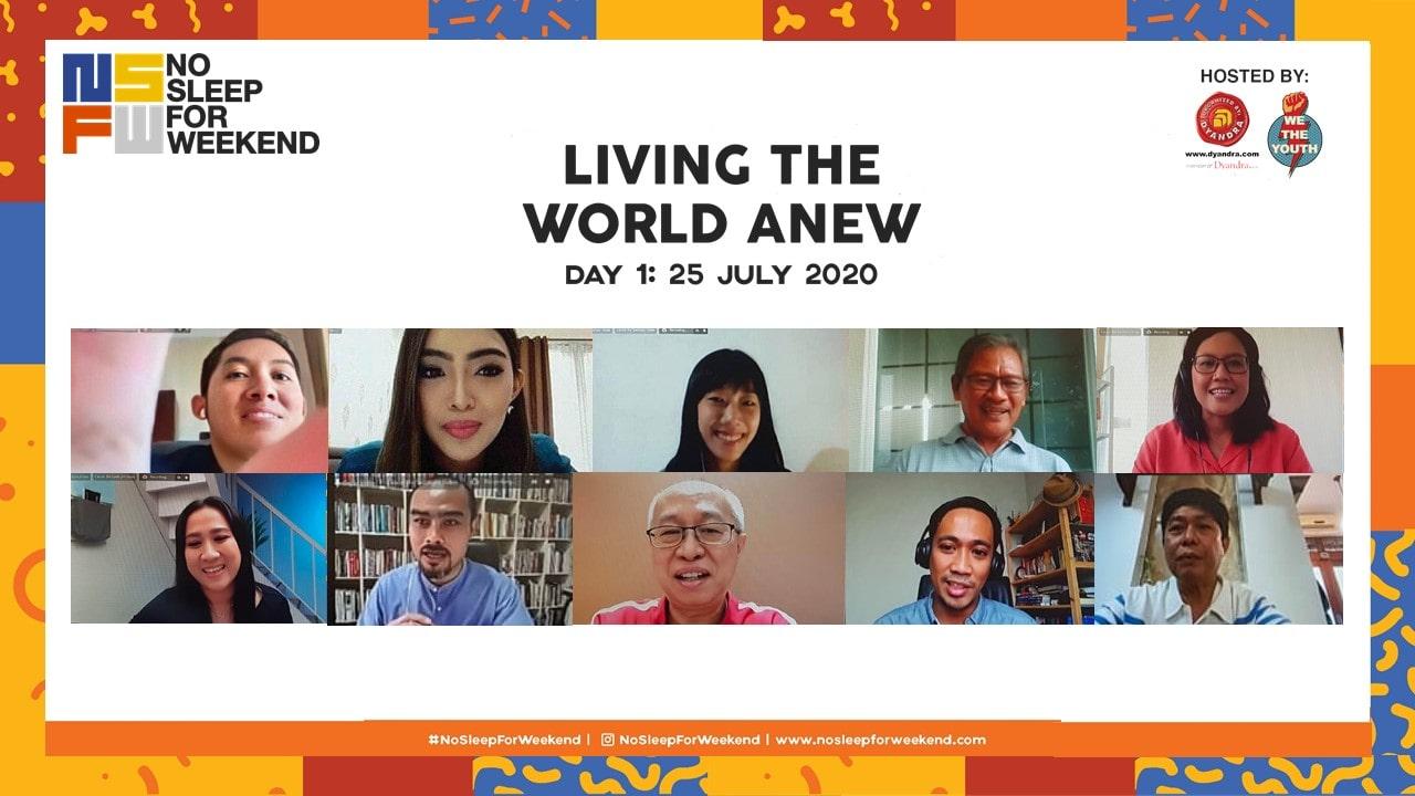 No Sleep For Weekend 2020 Online Conference: Semangat Baru bagi Generasi Muda Melalui Ruang Diskusi Virtual
