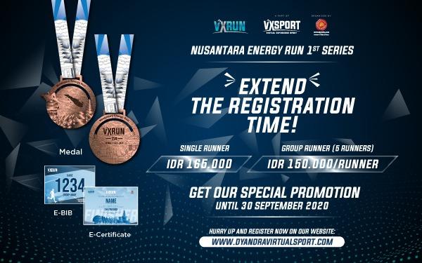 Virtual Experience Sport 2020: Menjaga Stamina di Masa PSBB dengan Olahraga Lari Virtual 15K
